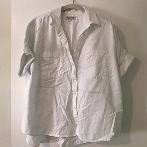Madewell White Denim Shirt